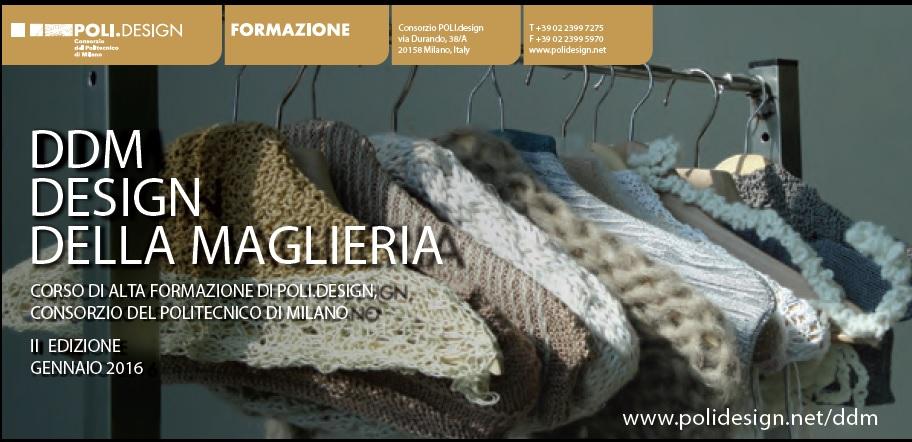 Politecnico nuovo corso di design della maglieria the for Politecnico di milano design della moda